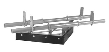 Twin Pole V-Plough Stainless Steel